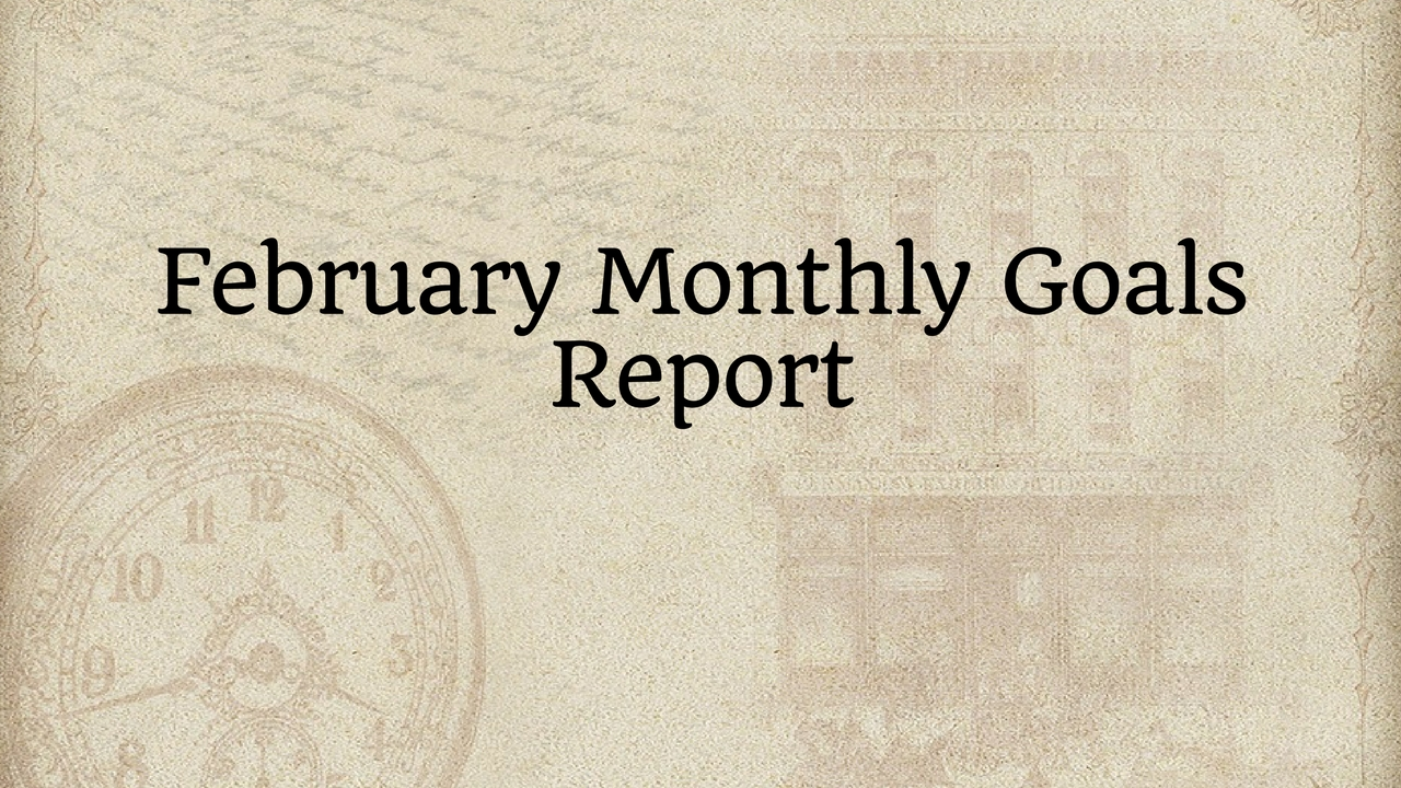 February Monthly Goals Report